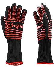 Soyion Premium rękawice do piekarnika (zestaw 2 szt.) do 500 °C – chłodzące i wygodne zabezpieczenie przed ciepłem – rękawice grillowe z certyfikatem EN407 – wyjątkowo długie rękawice do piekarnika dla ekstremalnego bezpieczeństwa