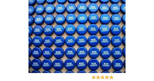 FREE SHIP NO DENTS BUD Light Beer Bottle Caps 100