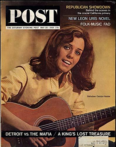 SATURDAY EVENING POST 5/30 1964 Peter Paul & Mary Leon Uris Indy 500 Folk Music