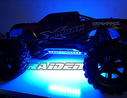 Raidenracing Blue Chassis Light LED Lighting System for 1/5 Scale Traxxas X-MAXX (Chassis Lighting)