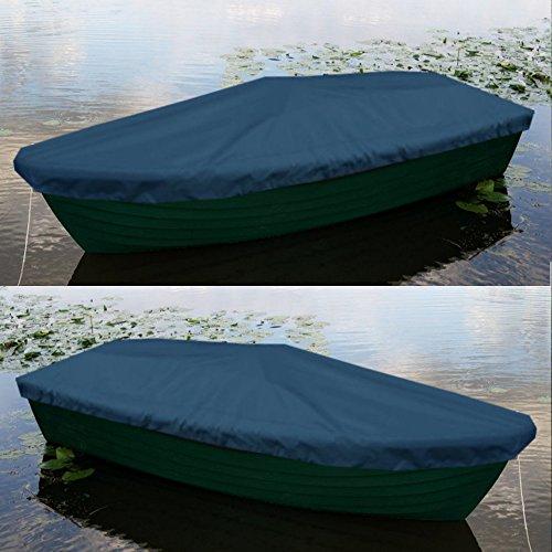 Bootsplane für Anka Ruderboot mit Kordelseil - Farbe Marine/Blau Premium Persenning Fischerboot Plane Abdeckplane Angelboot