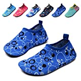 lewhosy Kids Boys and Girls Swim Water Shoes Quick Drying Barefoot Aqua Socks Shoes for Beach Pool Surfing Yoga(32/Blue)