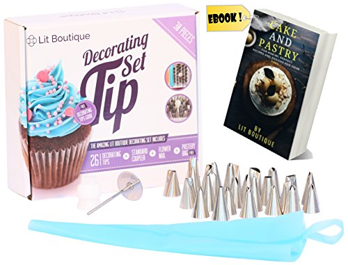 30-piece-cake-decorating-baking-tools-set-26-stainless-steel-tips-in-storage-case-flower-nail-only-k