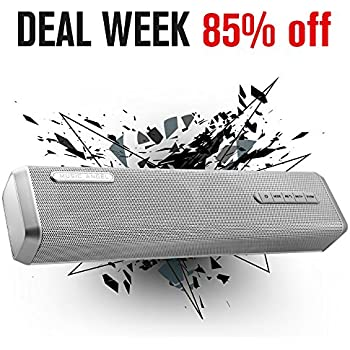 Bluetooth speaker MUSIC ANGEL Wireless Portable Stereo Speakers with Enhanced bass Resonator Bluetooth 4.0 Built-in Mic 4000mAh Rechargeable Bat 24 Playing Hours