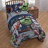 marvel bedding full - Marvel Comic Heroes Infinity War 5 Piece Kids Full Bedding Set - Reversible Comforter, Sheet Set with 2 Reversible Pillowcases