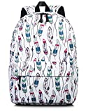 Girls School Backpack, Kids Cute Book Laptop Bag Daypack Rucksack White