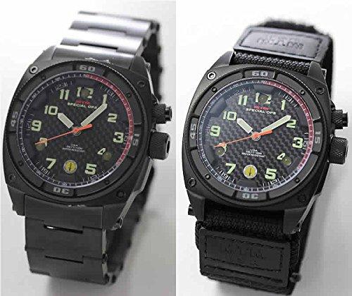 MTM スペシャルOPS ファルコンブラック TI001B チタニウム腕時計とバリスティックバンドセット B07CWN8S46
