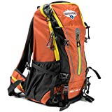 Cheap 45L Internal Frame Hiking and Camping Daypack Backpack with Ripstop Water-Resistant Nylon by Grizzly Peak (Orange)