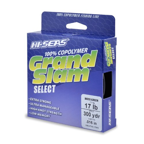 UPC 035926116177, HI-SEAS Grand Slam Select Copolymer 300-Yard Fishing Line, Moss Green, 8-Pound