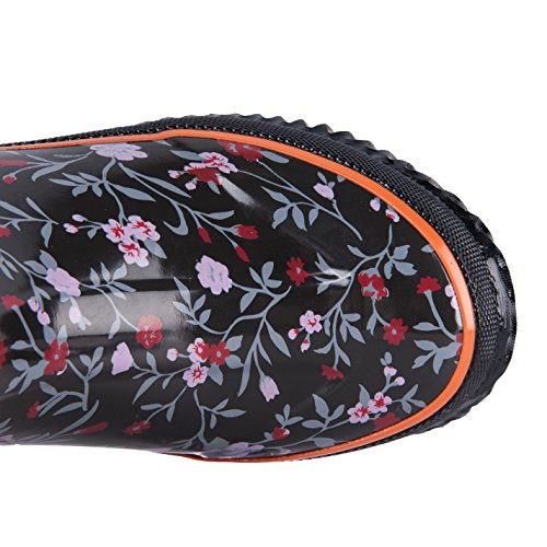 Winnter Boots Ladies Floral WTW Neoprene Women's for Rubber Pattern Warm Snow q7nOSw0IO