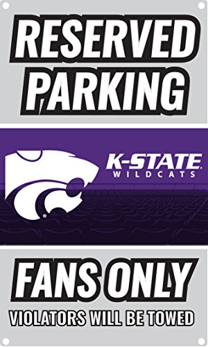 NCAA Parking For Fans Only Metal Sign (Kansas State (Wildcats Metal Parking Sign)