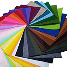 Dimart 40Pcs Assorted Color Felt Fabric Sheets Patchwork Sewing Diy Craft