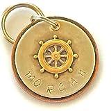 Personalized Pet ID Tag - Morgan - Ships Wheel