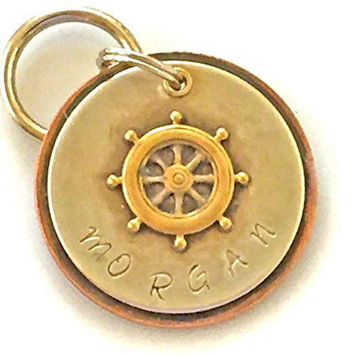 Personalized Pet ID Tag - Morgan - Ships Wheel by Claude's Paws