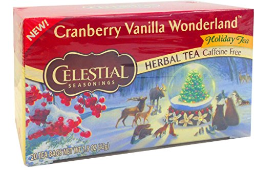 Celestial Seasonings Tea, Cranberry Vanilla Wonderland, 20 Count