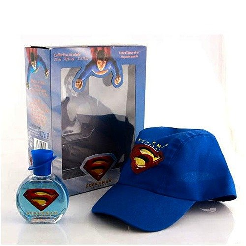 Supperman Gift/Set 2 Pieces [ 2.5 oz. Eau De Toilette Spray + Hat One Size Fits All] Boy