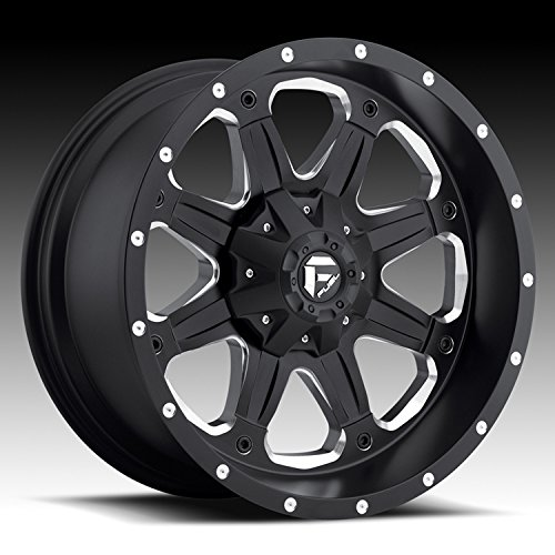 (Fuel Boost 18x9 Black Wheel / Rim 8x6.5 with a 1mm Offset and a 125.20 Hub Bore. Partnumber D53418908249 )