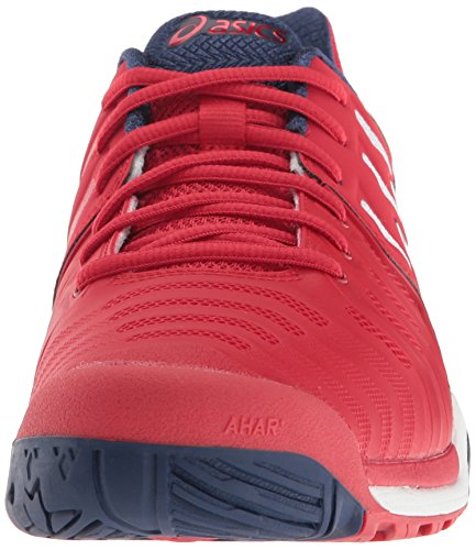 Asics Heren Gel-resolutie 7 Tennisschoen Echte Rood / Wit / Indigo Blue