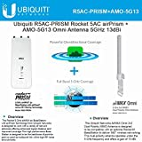Ubiquiti R5AC-PRISM airPrism + AMO-5G13 Omni Antenna 5GHz 13dBi