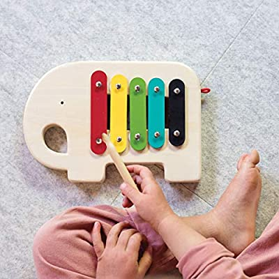 Petit Collage Modern Elephant Wooden Xylophone : Baby
