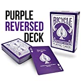 Magic Makers Bicycle Reverse Back Purple Deck - Includes Extra Gaff Cards for Performing Card Tricks By