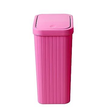 Poubelle  En Plastique Avec Couvercle Poubelle Peut Ménage Salon Cuisine WC  Bureau Chambre à Coucher