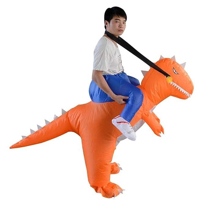 Amazon.com: Disfraz hinchable de dinosaurio para adulto ...