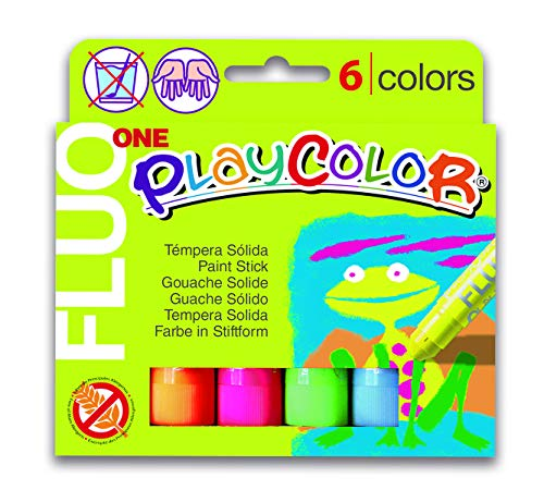 (Jack Richeson PlayColor Solid Poster Paints, 6 Florescent Colors)