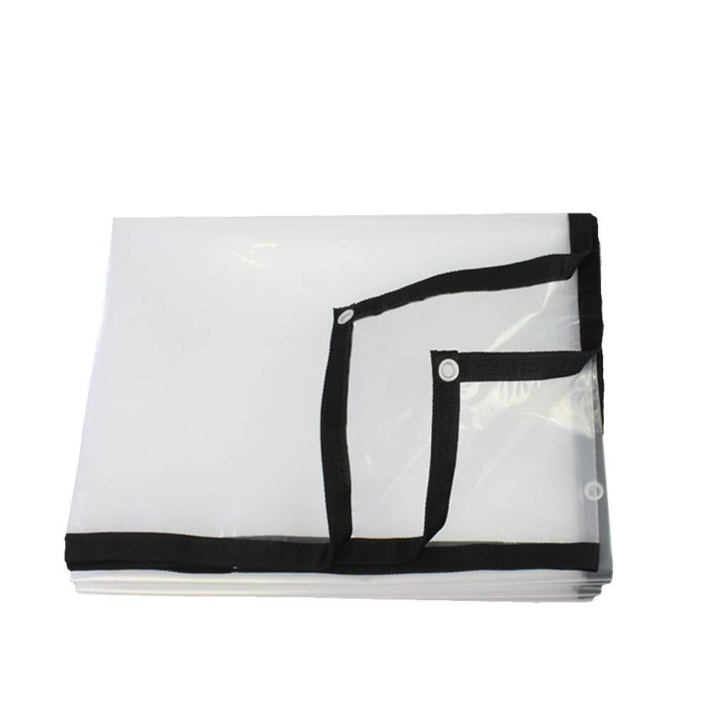 4x5m YH Poncho Transparent Climatisation Rideau Souple BÂche épaisse en Plastique Toile De Pluie BÂche De Prougeection Toile D'isolation A++ (Taille   4x6m)
