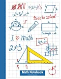 img - for Math Notebook 1/2 Inch Squares: Lined Graph Paper Composition Notebook [Large 8.5X11] 2 squares per inch book / textbook / text book