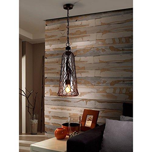 Schuller Spain 359213I4L Traditional oxide black Mesh Ceiling Pendant Hanging Ceiling Light Pendant 1 Light Dining Room, Living Room, Hallway | ideas4lighting by Schuller