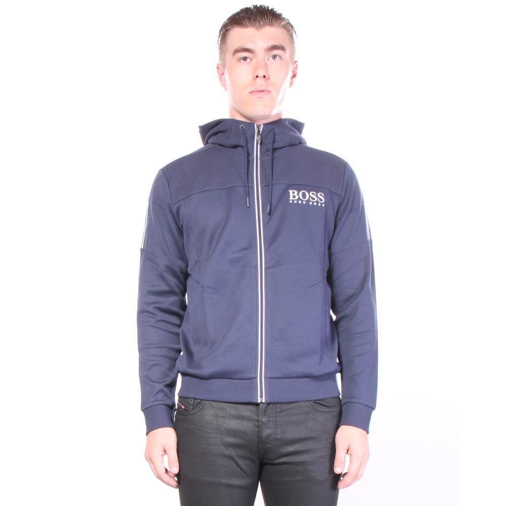 ヒューゴボス サギー フード 長袖ジャケット B07722YS6H M|ネイビー ネイビー M