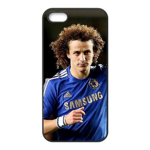 David Luiz 001 coque iPhone 5 5S cellulaire cas coque de téléphone cas téléphone cellulaire noir couvercle EOKXLLNCD23100
