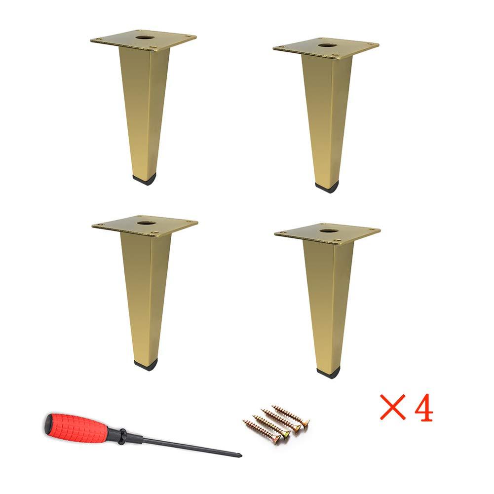 LLPEIJIE026 Thickening,Cabinet Legs Kitchen Feet Worktop,Unit,Breakfast Bar,Desk Table, Legs, Furniture Legs - Chrome Metal, Straight Cone (Height: 12, 17cm) by LLPEIJIE026