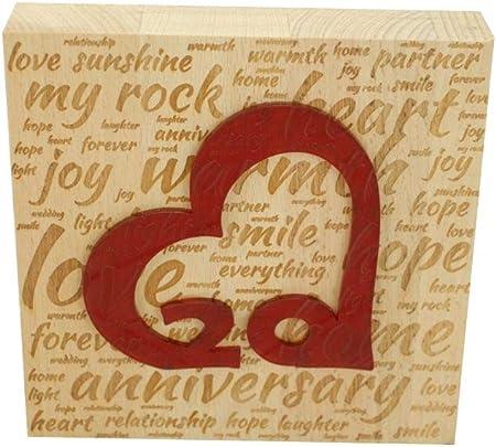 Anniversario Di Matrimonio 20.Blocco Di Legno Di Faggio Per 20 Anniversario Di Matrimonio Con