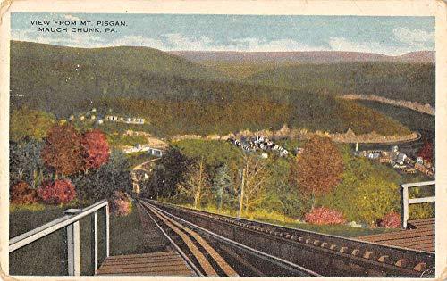 Mauch Chunk Pennsylvania - Mauch Chunk Pennsylvania birds eye view from Mt Pisgan antique pc ZA440184