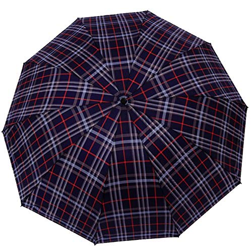 Rain Gear Outdoor Functional Portable Rainproof Creative Manual Classic Lattice Sunscreen Sun and Dual-use Folding Umbrella (Color : 2) ()