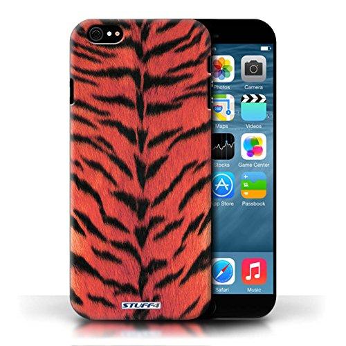 Kobalt® protector duro de nuevo caso / cubierta para el Apple iPhone 6/6S | Rojo Diseño | Tigre de la piel de los animales/de impresión colección