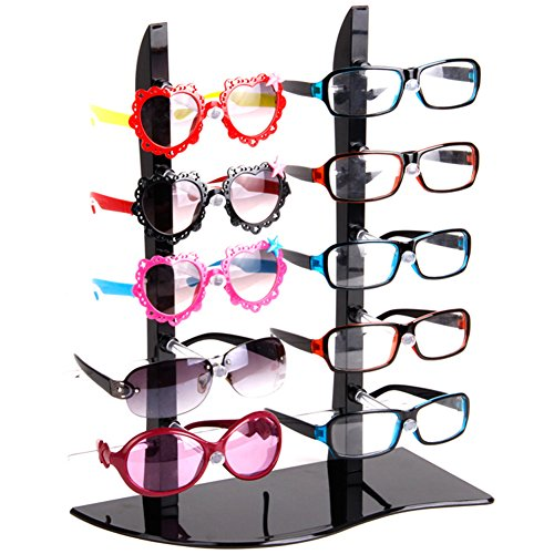 Plastic Sunglass Display Stand Holder Glasses Rack For 10 Pairs - Wholesale Display Sunglasses