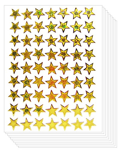 Star School Reward Stickers Kid (Gold, 10 Sheets)