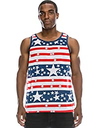 "<span class=""a-offscreen"">[Sponsored]</span>Mens Hipster Hip Hop American USA Flag Crewneck Tank Top Collection"