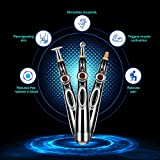 3-in-1 Acupuncture Pen, Electronic Acupuncture Pen, Pain Relief Therapy, Meridian Energy Pulse Massage Pen, Powerful Meridian Energy Pen Relief Pain Tools, Includes Bonus Massaging Gel