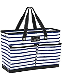 BJ BAG, Large Tote Bag for Women with 4 Exterior Pockets and Interior Zippered Compartment, Perfect Utility Tote Bag with Pockets for Teachers and Nurses