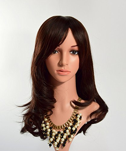 Victoria Cat Women/ Lady Dark Brown Long Full Curly Wavy Hair Wig with Wig Cap and (The Real Catwoman Costume)