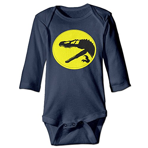 MZONE Dinosaur Alternative Logo Long Sleeve Romper Play Suit For 6-24 Months Toddler Size 6 M Navy