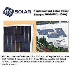 SHARP ND-208U2, ND-208U1 (208W) Direct Replacement Solar Panel module (pallet of 10 Panels)