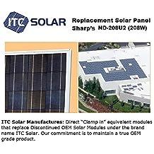 SHARP ND-208U2, ND-208U1 (208W) Direct Replacement Solar Panel module (pallet of 10 Panels)