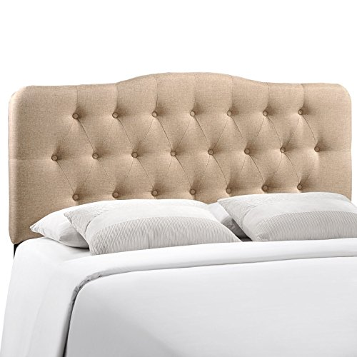 Lane Fabric (Modway Annabel Upholstered Tufted Button Fabric Headboard Full Size In Beige)