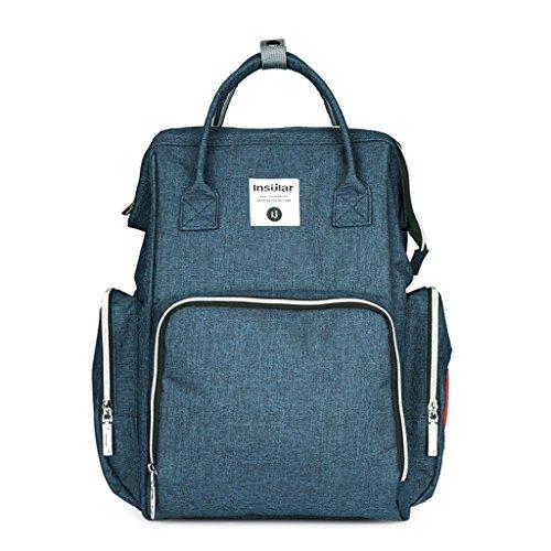 Bag Capacity Function Travel Malachite Vert Diaper Baby Large Backpack Multi Nappy Mummy 76qpU