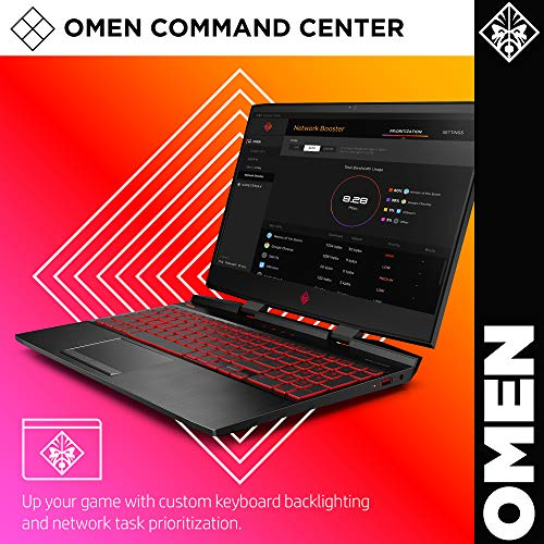 Omen by HP 2019 15-Inch Gaming Laptop, Intel i7-9750H Processor, NVIDIA GTX 1660Ti (6 GB), 8 GB RAM, 256 GB SSD, VR Ready, Windows 10 Home (15-dc1020nr, Black)